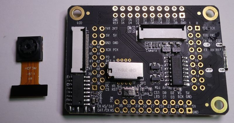 board met SD slot, microfoon, camera en lcd carriers